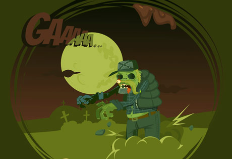 Zombie - character design, vector file